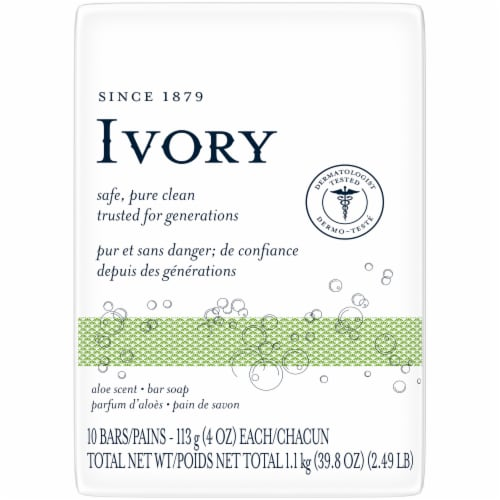 Ivory Aloe Scent Soap Bars Perspective: front