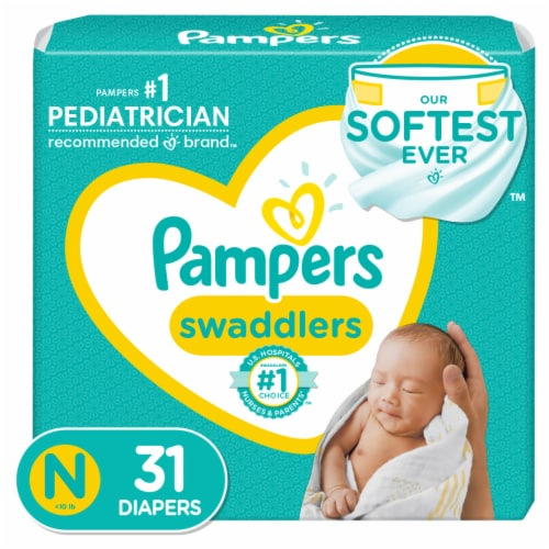 Pampers Swaddlers Newborn Diapers Perspective: front