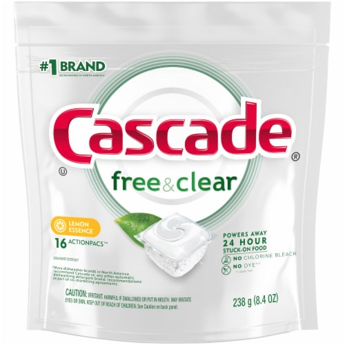 Cascade Pure Essentials Lemon Essence Actionpacs Perspective: front