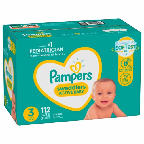 Pampers Swaddlers Size 3 Diapers Perspective: front