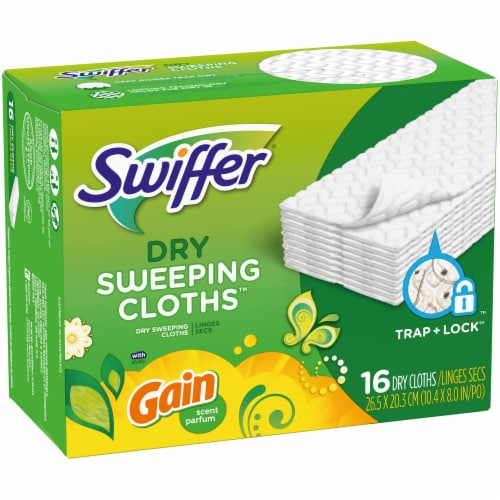 Swiffer Sweeper Dry Sweeping Cloths with Gain Scent Perspective: front