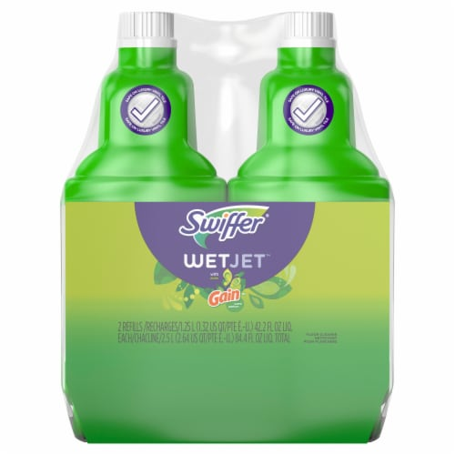 Swiffer Wet Jet Multi-Purpose Gain Scent Floor Cleaner Twin Pack Perspective: front