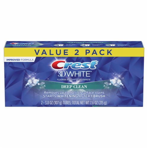Crest 3D White Deep Clean Toothpaste Perspective: front