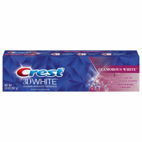 Crest 3D White Glamorous White Toothpaste Perspective: front