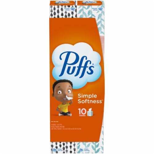 Puffs Non-Lotion Facial Tissues 640 Count Perspective: front