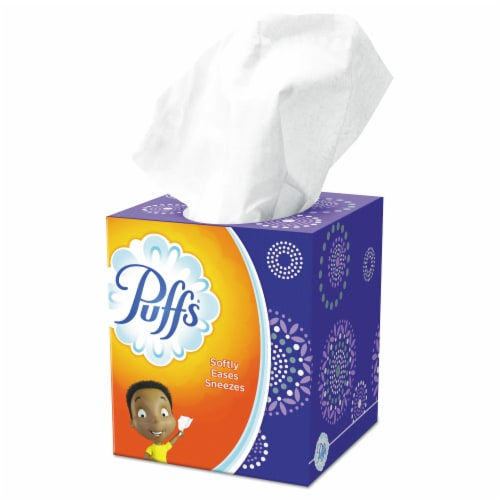 Puffs Everday White Non-Lotion Facial Tissues Perspective: front