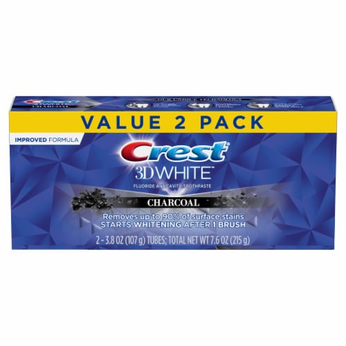 Crest 3D White Charcoal Toothpaste Perspective: front