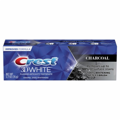 Crest® 3D White™ Charcoal Toothpaste Perspective: front