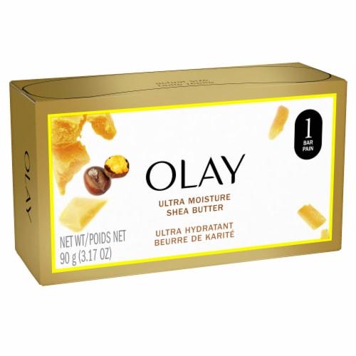 Olay Moisture Outlast Ultra Moisture Shea Butter Beauty Bar for Women Perspective: front