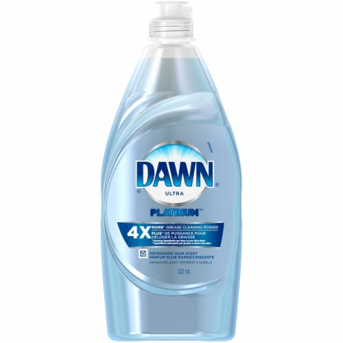 Dawn Platinum Refreshing Rain Scent Dishwashing Liquid Perspective: front