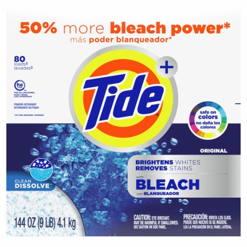 Tide Plus Bleach Original Powder Laundry Detergent Perspective: front