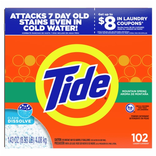 Tide Mountain Spring Powder Laundry Detergent Perspective: front