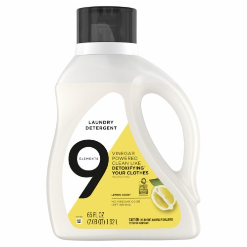 9 Elements Lemon Scent Liquid Laundry Detergent Perspective: front