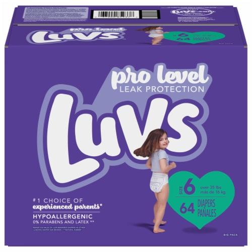 Luvs Triple Leakguards Size 6 Diapers Perspective: front