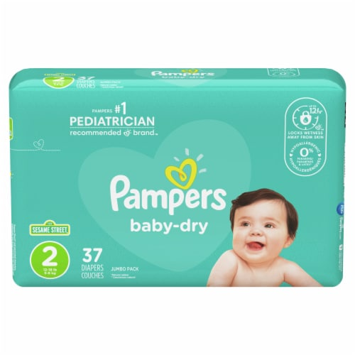 Pampers Baby-Dry Size 2 Diapers Perspective: front