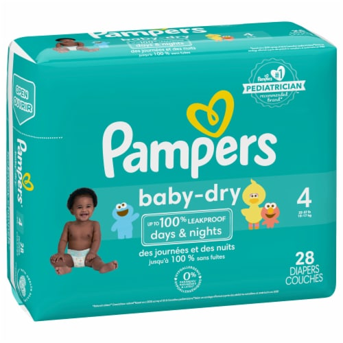 Pampers Baby-Dry Size 4 Diapers Perspective: front