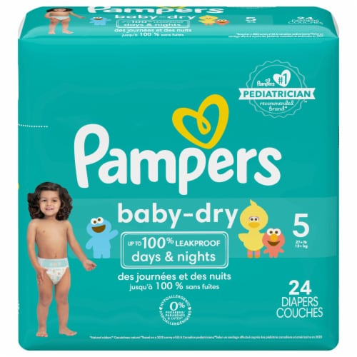 Pampers Baby-Dry Size 5 Diapers Perspective: front
