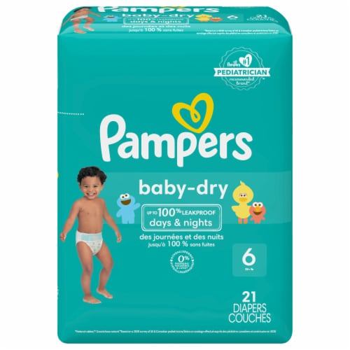 Pampers Baby-Dry Size 6 Diapers Perspective: front