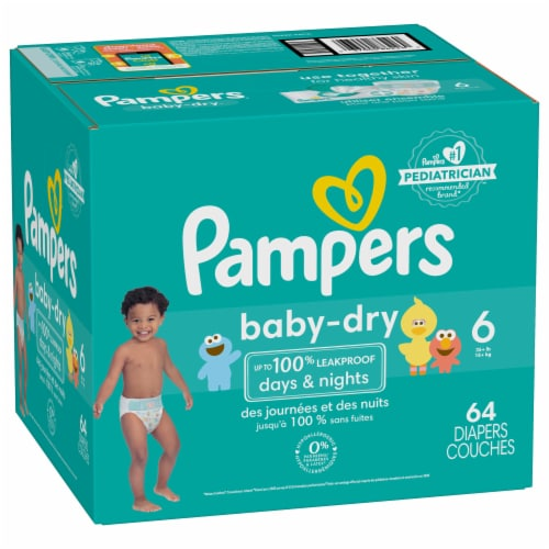 Pampers Baby-Dry Size 6 Diapers Super Pack Perspective: front