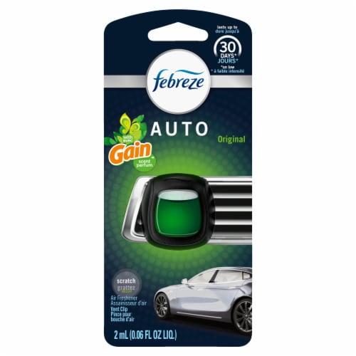 Febreze Auto Original with Gain Scent Air Freshener Car Vent Clip Perspective: front