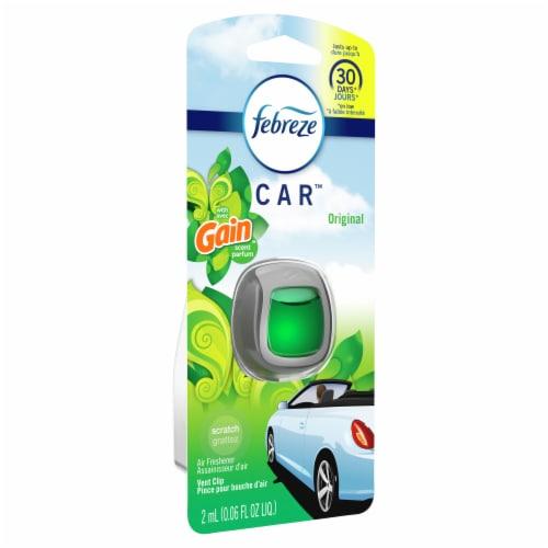 Febreze CAR Original Gain Scent Air Freshener Vent Clip Perspective: front