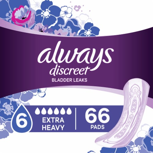 Always Discreet Size 6 Extra Heavy Bladder Leak Pads Perspective: front