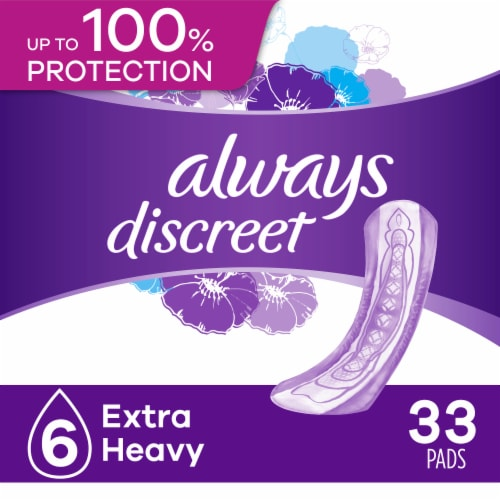 Always Discreet Size 6 Extra Heavy Women's Incontinence Pads Perspective: front