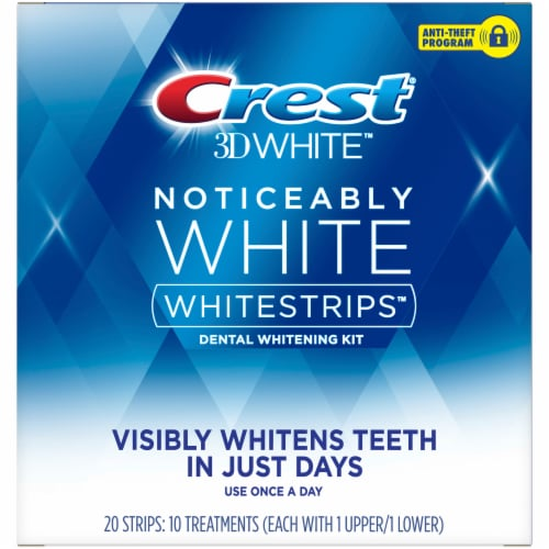 Crest 3D Whitestrips Noticeably White Teeth Whitening Kit Perspective: front