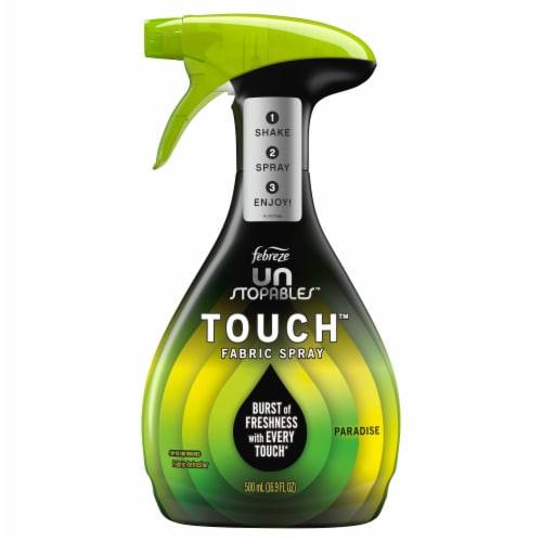 Febreze Unstopables Paradise Scent Touch Fabric Spray Perspective: front
