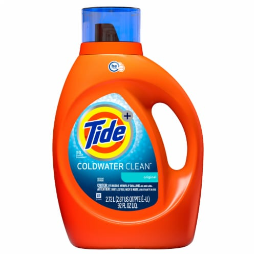 Tide Laundry Detergent Liquid Coldwater Clean Fresh Scent HE Turbo Clean 59 loads Perspective: front