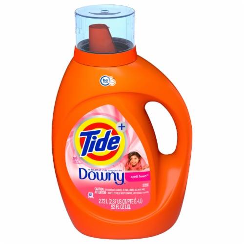 Tide Plus Downy April Fresh Liquid Laundry Detergent Perspective: front
