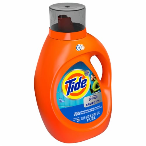Tide Plus Febreze Freshness Sport Odor Defense HE Turbo Clean Liquid Laundry Detergent Perspective: front