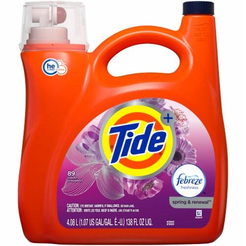 Tide Spring & Renewal Liquid Detergent Perspective: front