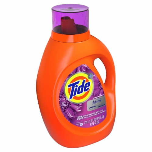 Tide Plus Febreze Freshness Spring & Renewal Liquid Laundry Detergent Perspective: front