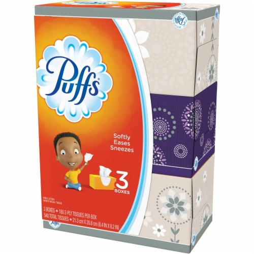 Puffs  Facial Tissue 87615 Perspective: front