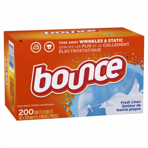 Bounce Fresh Linen Dryer Sheets Perspective: front