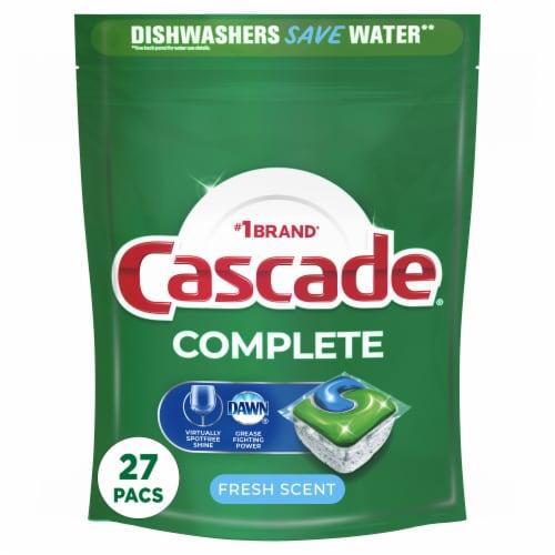 Cascade Complete Fresh Scent Dishwasher Detergent ActionPacs Perspective: front