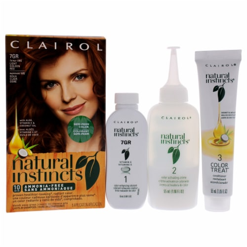 Clairol Natural Instincts 15RG Light Golden Red Hair Color Perspective: front