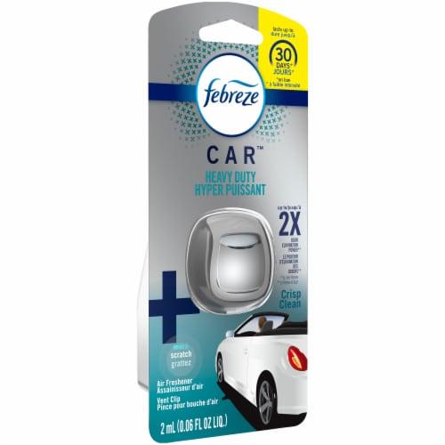 Febreze Car Crisp Clean Heavy Duty Vent Clip Air Freshener Perspective: front
