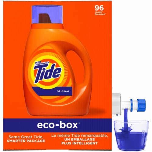 Tide Original Eco-Box Liquid Laundry Detergent Perspective: front
