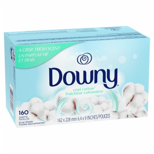Downy Cool Cotton Dryer Sheets Perspective: front