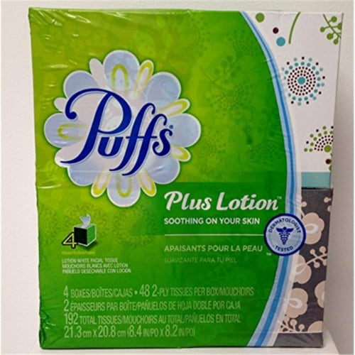 Puffs 48 count Facial Tissue - Case Of: 6; Perspective: front