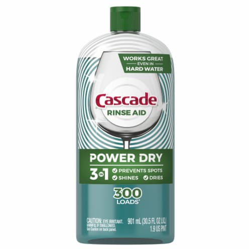 Cascade Platinum Dishwashing Rinse Aid Perspective: front