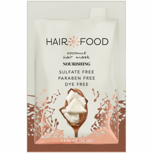 Hair Food Coconut Nourishing Hair Mask Hair Styling Product for Curly Hair Perspective: front