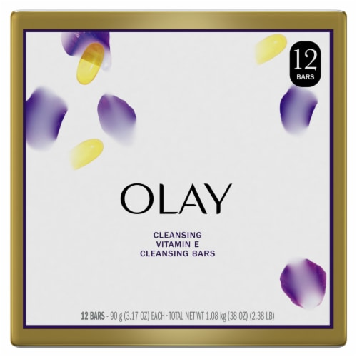 Olay Moisture Outlast Age Defying Vitamin E Beauty Bars Perspective: front