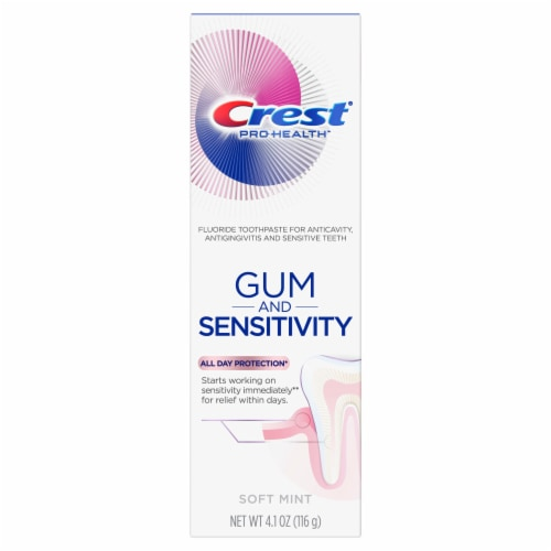 Crest Pro-Health Toothpaste Gum and Sensitivity Sensitive Toothpaste All Day Protection Perspective: front