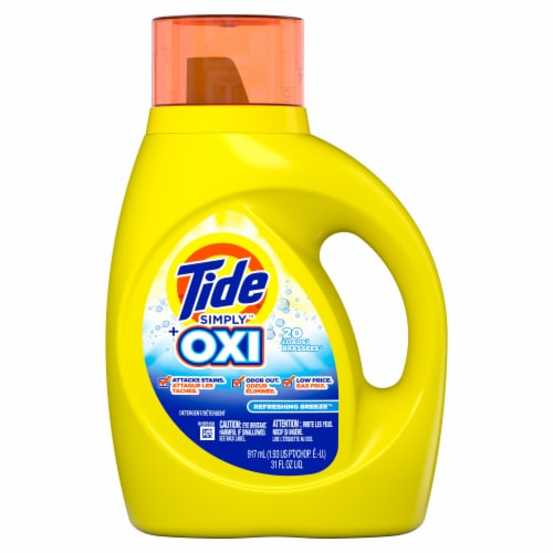 Tide Simply Plus Oxi Refreshing Breeze Liquid Laundry Detergent Perspective: front