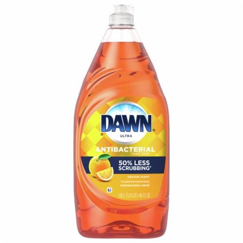 Dawn Ultra Orange Scent Antibacterial Hand Soap Dishwashing Liquid Perspective: front