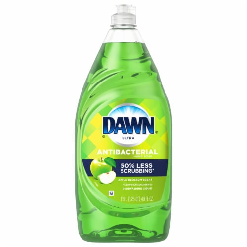 Dawn Ultra Apple Blossom Scent Antibacterial Hand Soap Dishwashing Liquid Perspective: front