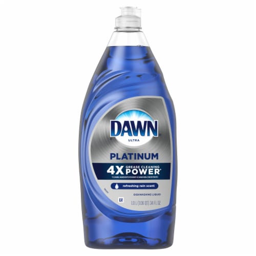 Dawn Ultra Platinum Refreshing Rain Scent Dishwashing Liquid Perspective: front